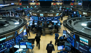 Traders on the floor of the New York Stock Exchange (NYSE)