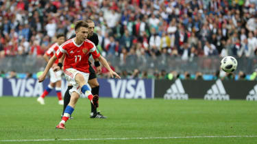 Aleksandr Golovin free-kick Russia 5 Saudi Arabia 0 World Cup