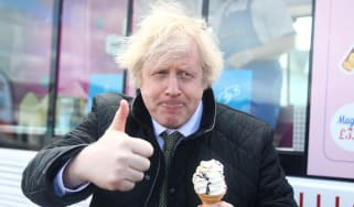 Boris Johnson in Cornwall