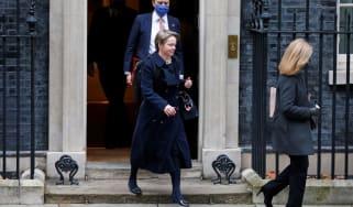 Baroness Harding and Matt Hancock at Downing STreet
