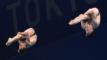Tom Daley and Matty Lee in the men's synchronised 10m platform diving final