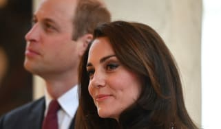 Kate Middleton with William