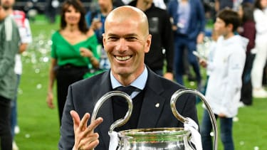 Zinedine Zidane won three successive Champions League titles in his first spell as Real Madrid coach