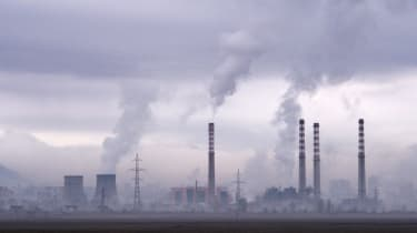 Smoke rises from stacks of a thermal power station in Bulgaria