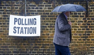 A man votes in the 2016 EU referendum