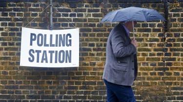 A man votes in the 2016 EU referendum