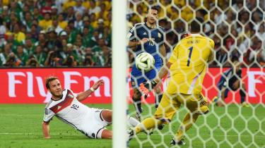 Mario Gotze scores Germany's World Cup winning goal