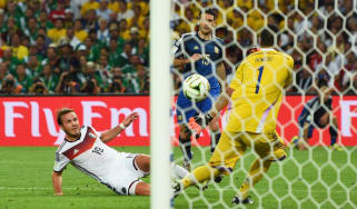 Mario Gotze scores Germany's World Cup winning goal