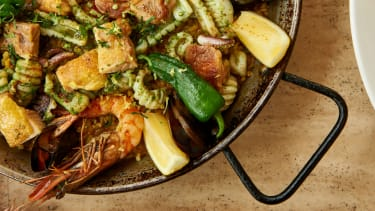 Seafood and chicken paella from the One&Only The Palm Dubai