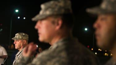 Lt Gen Mark Milley addresses reporters