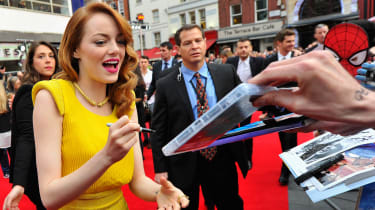 Emma Stone signs autographs ahead of The Amazing Spider-Man 2 in Leicester Square
