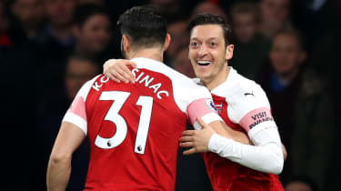 Sead Kolasinac and Mesut Ozil were unwittingly caught up in a gangland dispute
