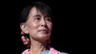Aung San Suu Kyi is under pressure to stop violence against Muslim minority