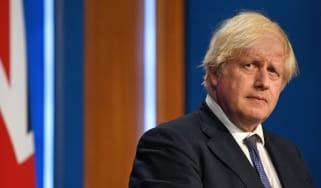 Boris Johnson looking at the camera