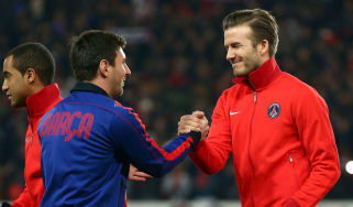 Lionel Messi Barcelona Inter Miami David Beckham