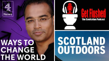 Clockwise from left: Ways to Change the World, Get Flushed and Scotland Outdoors