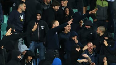 Some Bulgarian fans directed Nazi salutes and monkey chants at England players