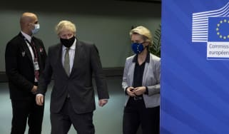 Boris Johnson and European Commission president Ursula von der Leyen meet for a dinner in Brussels