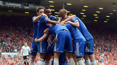 Chelsea team celebrate