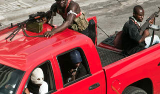 Ivory Coast civil war gunmen in Abidjan