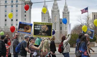 Mormon protest