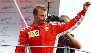 Kimi Raikkonen Ferrari Charles Leclerc