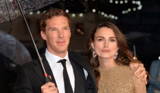 "LONDON, ENGLAND - OCTOBER 08:Benedict Cumberbatch and Keira Knightley attend the opening night gala screening of ""The Imitation Game"" during the 58th BFI London Film Festival at Odeon Leicest"
