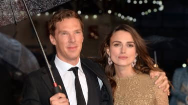 """LONDON, ENGLAND - OCTOBER 08:Benedict Cumberbatch and Keira Knightley attend the opening night gala screening of """"The Imitation Game"""" during the 58th BFI London Film Festival at Odeon Leicest"""