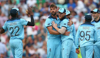 England bowler Liam Plunkett (second left) could be recalled for the game against Bangladesh