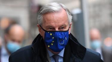 Michel Barnier in London during negotiations in October 2020