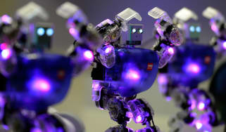 Humanoid robots dancing at 'The Robot Museum' in Madrid