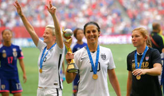 Carli Lloyd of the USA celebrates winning the Women's World Cup