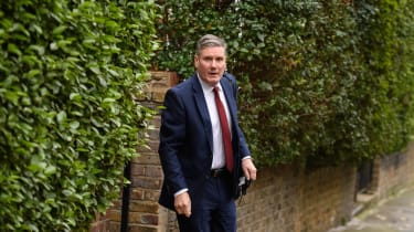 Keir Starmer outside his home in London