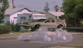 DeLorean car in Back to the Future