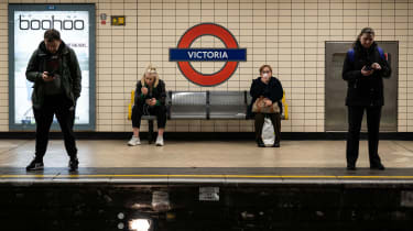 Social distancing on the Tube