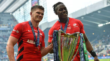 England internationals Owen Farrell and Maro Itoje are two of Saracens's top players