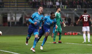 Arsenal AC Milan Europa League San Siro Aaron Ramsey
