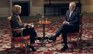 Prince Andrew during his infamous interview with BBC Newsnight.