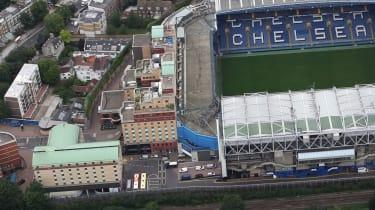 Chelsea FC's Stamford Bridge stadium in west London