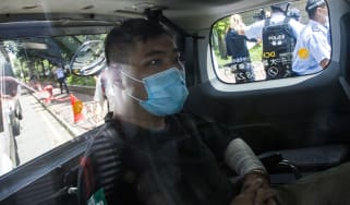 Tong Ying-kit arrives in court