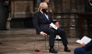 Boris Johnson attends a Remembrance Day service at Westminster Cathedral