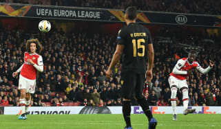 Arsenal's Nicolas Pepe scored two superb free-kicks in the 3-2 Europa League win over Vitoria