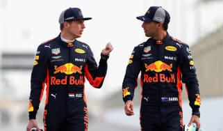 F1 Red Bull Max Verstappen Daniel Ricciardo