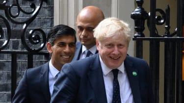 Boris Johnson with Rishi Sunak and Sajid Javid