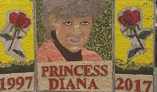 The floral portrait of Diana, Princess of Wales