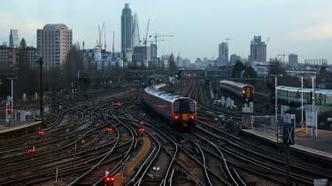 Train on track