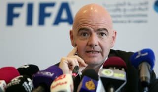 Gianni Infantino was elected Fifa president in February 2016