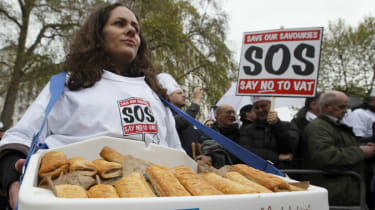 protests against pasty tax