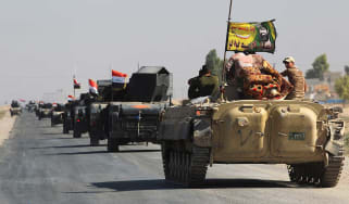 Iraqi forces drive into the centre of the disputed city of Kirkuk