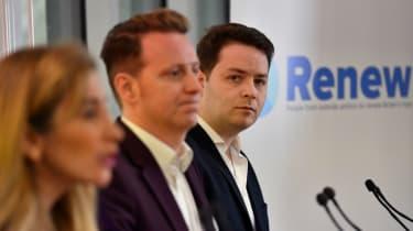 Renew Party principals Sandra Khadhouri, James Clarke and James Torrance